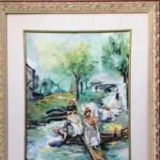 Varios objetos de Arte: GOUACHE SOBRE CARTULINA. Lote 241409300
