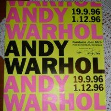 Varios objetos de Arte: CARTEL EXPOSICIÓN ANDY WARHOL EN BARCELONA 1996. ORIGINAL. 70X40 APROX.POP ART. Lote 241892920
