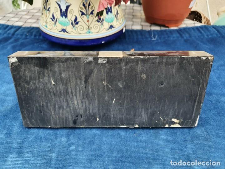 Varios objetos de Arte: Magnifica escribania doble antigua marmol y cobre escultura perro (Fox terrier) original 530,00 € - Foto 5 - 242220530