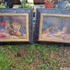 Varios objetos de Arte: CUADROS ANTIGUOS BODEGONES.. Lote 242895580
