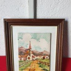 Varios objetos de Arte: ANTIGUO CUADRO PINTURA SOBRE AZULEJOS. Lote 243188140