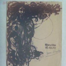 Art: FOLLETO PUBLICITARIO EXPOSICION PINTURAS DE ANTONIO F. DONOSO, AFDO. GALERIA FULMEN, SEVILLA, 1972. Lote 243233645