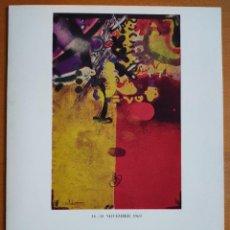 Varios objetos de Arte: JOAN PERE VILADECANS DÍPTICO EXPOSICIÓN GALERÍA DRESDNERE AÑO 1969. Lote 243622035