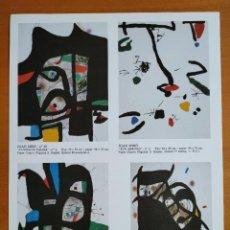 Varios objetos de Arte: JOAN MIRÓ SALA GASPAR EXPOSICIÓ 1981 PERQUEÑO CARTEL. Lote 243622690