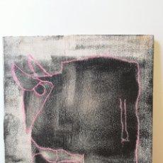 Varios objetos de Arte: OBRA DE ARTE ORIGINAL STEVEN MANLEY ACRILICO Y PASTEL SOBRE MADERA TORO ROSA NEGRO. Lote 244151330