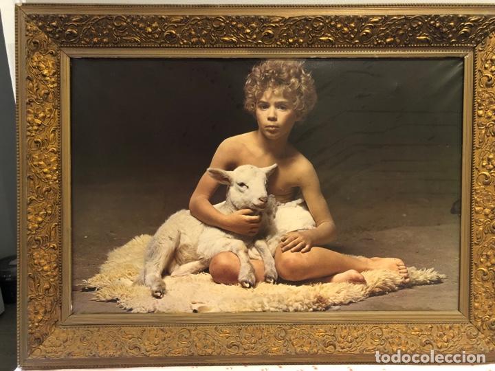 ANTIGUO CUADRO CON IMAGEN (Arte - Varios Objetos de Arte)