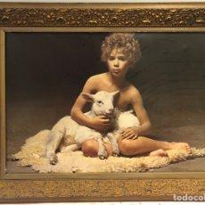 Varios objetos de Arte: ANTIGUO CUADRO CON IMAGEN. Lote 245266415