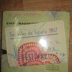 Varios objetos de Arte: PINTURA ALICANTINA JOSE ANTONIO CIA CINTA AUDIO 1967 CON FOLLETO DIBUJOS EN FESTIVAL DE ALICANTE. Lote 27501174