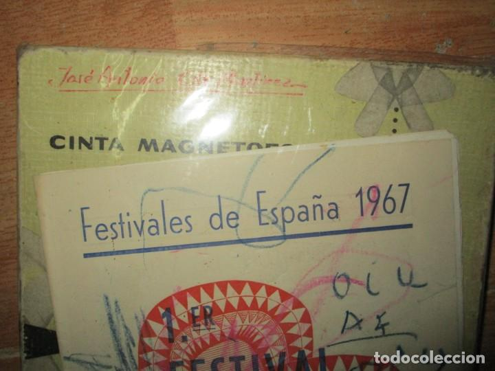 Varios objetos de Arte: pintura alicantina JOSE ANTONIO CIA CINTA AUDIO 1967 CON FOLLETO DIBUJOS EN FESTIVAL DE ALICANTE - Foto 2 - 27501174