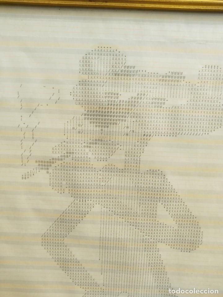 Varios objetos de Arte: Original dibujo mecanografiado - La pantera Rosa - enmarcado 37x39 cm. firmado fechado Valencia 1975 - Foto 3 - 245732880