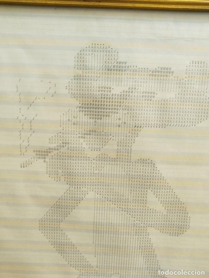 Varios objetos de Arte: Original dibujo mecanografiado - La pantera Rosa - enmarcado 37x39 cm. firmado fechado Valencia 1975 - Foto 5 - 245732880
