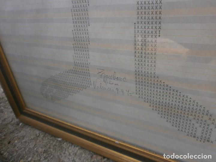 Varios objetos de Arte: Original dibujo mecanografiado - La pantera Rosa - enmarcado 37x39 cm. firmado fechado Valencia 1975 - Foto 4 - 245732880