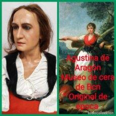 Varios objetos de Arte: (MCE-19)BUSTO DE CERA DE AGUSTINA DE ARAGON-MUSEO DE CERA DE BARCELONA. Lote 246280845