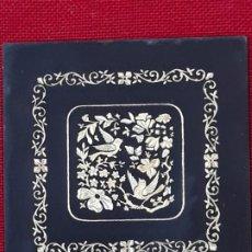 Varios objetos de Arte: PLACA METALICA CON DAMASQUINADO EN ORO - TOLEDO.. Lote 246307215