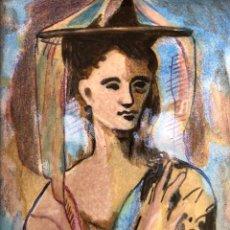Varios objetos de Arte: RARÍSIMO ESMALTE AL FUEGO MID CENTURY - PABLO PICASSO - MUCHACHA DE MALLORCA 1905. Lote 246335300