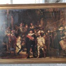 Varios objetos de Arte: CUADRO DE GRANDES DIMENSIONES, REMBRANDT LA RONDA NOTTURNA 133X101CM CON MARCO. Lote 246931655