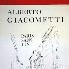 Varios objetos de Arte: GIACOMETTI - GALERIE CRAMER - 1972 - CARTEL. Lote 247040395
