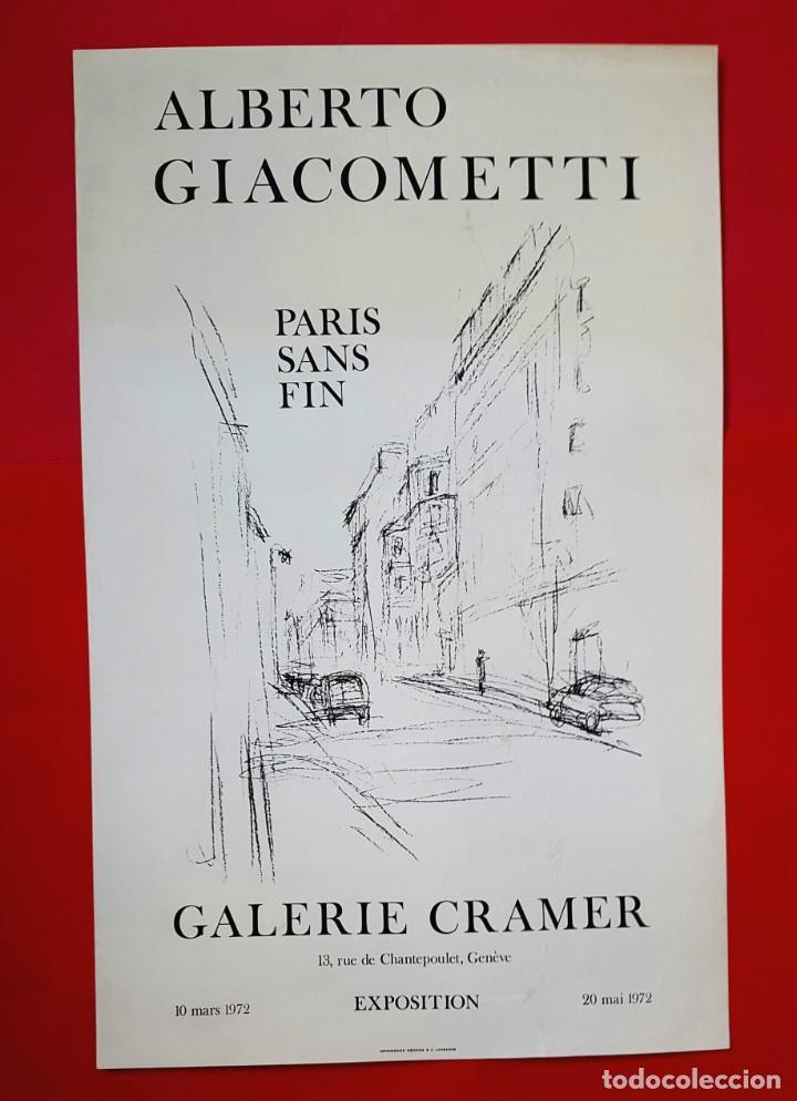 Varios objetos de Arte: GIACOMETTI - GALERIE CRAMER - 1972 - CARTEL - Foto 2 - 247040395