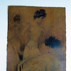 Varios objetos de Arte: RAMON CASAS. ANTIGUA FALSIFICACIÓN SOBRE CARTON. Lote 248424480