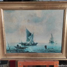 Varios objetos de Arte: CUADRO MARINA INGLESA CON BARCOS, CON MARCO 48X38CM. Lote 248579385
