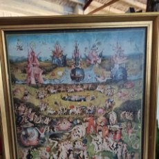 Varios objetos de Arte: EL BOSCO, JARDÍN DE LAS DELICIAS. IMPRESION SOBRE LIENZO. CON MARCO. 58X62. Lote 248593690