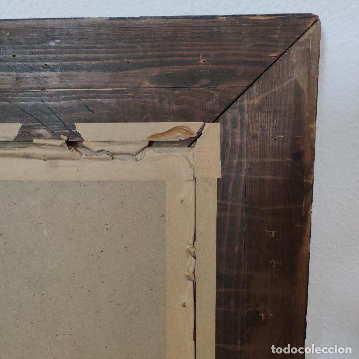 Varios objetos de Arte: Auténtica obra de arte. Cuadro del descendimiento de la cruz. Cuero repujado. Firmado F.M. Rubio. - Foto 13 - 250337220