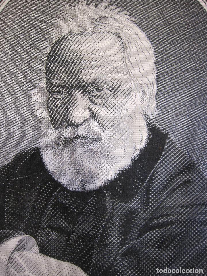 Varios objetos de Arte: TEJIDO JACQUARD. RETRATO DE VICTOR HUGO 1802-1885. Carquillat, Saint-étienne. DIBUJO DESCROIX 26X21 - Foto 3 - 252525925