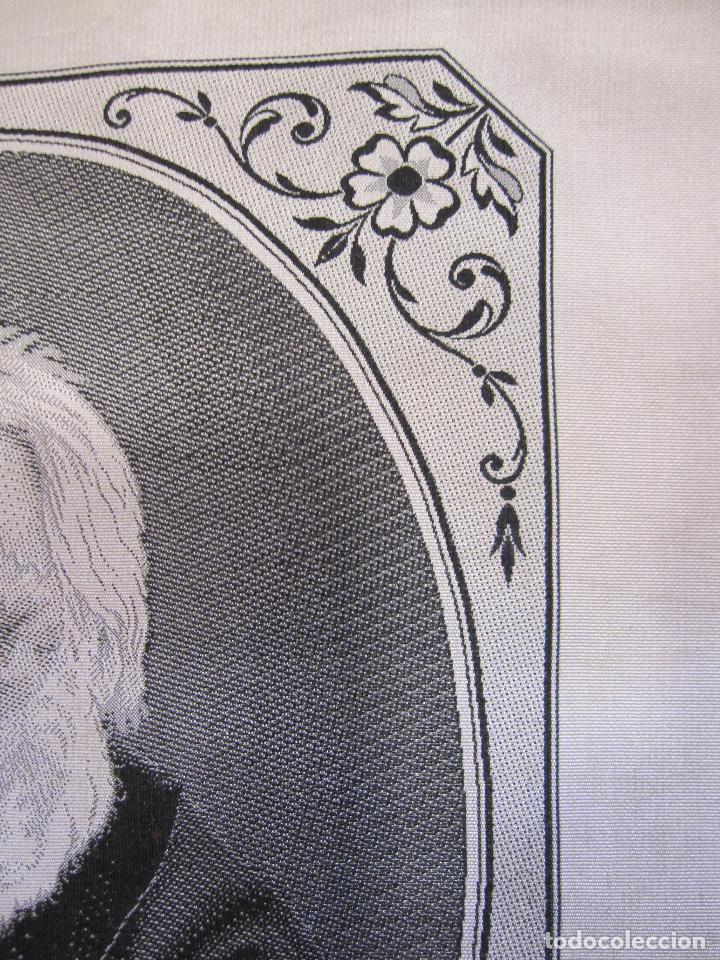 Varios objetos de Arte: TEJIDO JACQUARD. RETRATO DE VICTOR HUGO 1802-1885. Carquillat, Saint-étienne. DIBUJO DESCROIX 26X21 - Foto 4 - 252525925