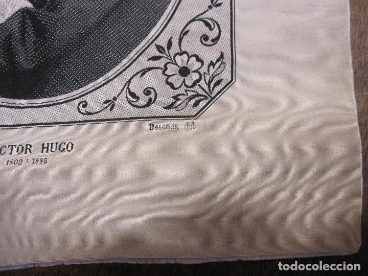 Varios objetos de Arte: TEJIDO JACQUARD. RETRATO DE VICTOR HUGO 1802-1885. Carquillat, Saint-étienne. DIBUJO DESCROIX 26X21 - Foto 7 - 252525925