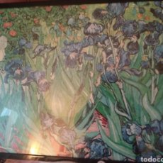 Varios objetos de Arte: CUADRO LAMINA IRIS AZULES. Lote 253063835