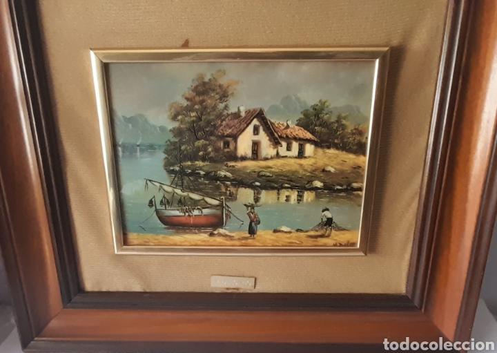 Varios objetos de Arte: Cuadro M. Delgado, Manuel Delgado ?. Ver fotos. - Foto 2 - 253244410