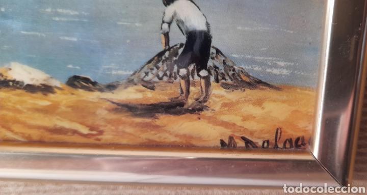 Varios objetos de Arte: Cuadro M. Delgado, Manuel Delgado ?. Ver fotos. - Foto 3 - 253244410