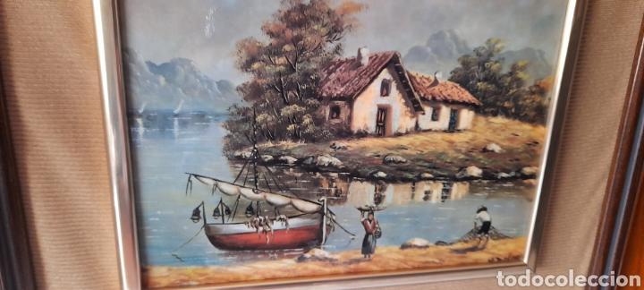Varios objetos de Arte: Cuadro M. Delgado, Manuel Delgado ?. Ver fotos. - Foto 4 - 253244410