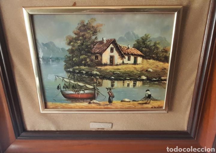 Varios objetos de Arte: Cuadro M. Delgado, Manuel Delgado ?. Ver fotos. - Foto 5 - 253244410