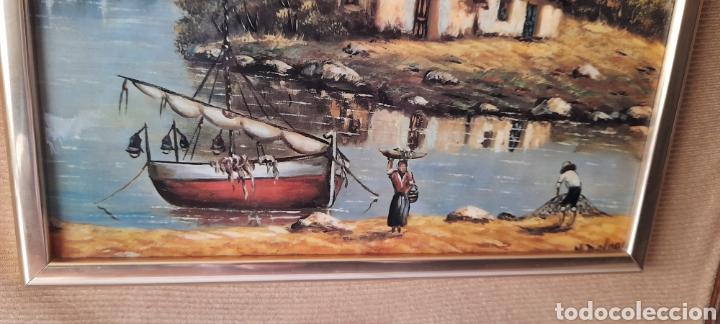 Varios objetos de Arte: Cuadro M. Delgado, Manuel Delgado ?. Ver fotos. - Foto 9 - 253244410