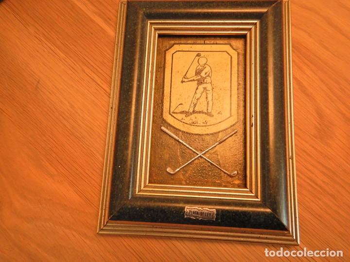 CUADRO DE GOLF PLATA (Arte - Varios Objetos de Arte)