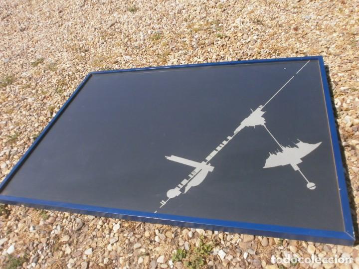 Varios objetos de Arte: Abstraco cartulina negra colage dibujo lateral pegado marco cristal grande 100 X 70 cm. otroarte - Foto 2 - 253531665