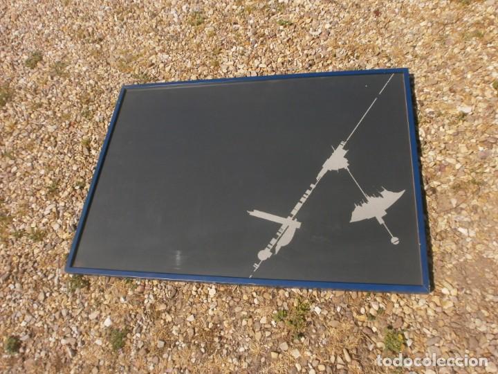 Varios objetos de Arte: Abstraco cartulina negra colage dibujo lateral pegado marco cristal grande 100 X 70 cm. otroarte - Foto 3 - 253531665