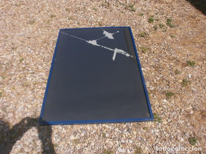 Varios objetos de Arte: Abstraco cartulina negra colage dibujo lateral pegado marco cristal grande 100 X 70 cm. otroarte - Foto 4 - 253531665