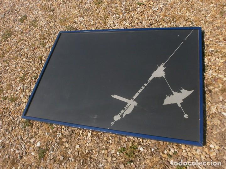 Varios objetos de Arte: Abstraco cartulina negra colage dibujo lateral pegado marco cristal grande 100 X 70 cm. otroarte - Foto 5 - 253531665