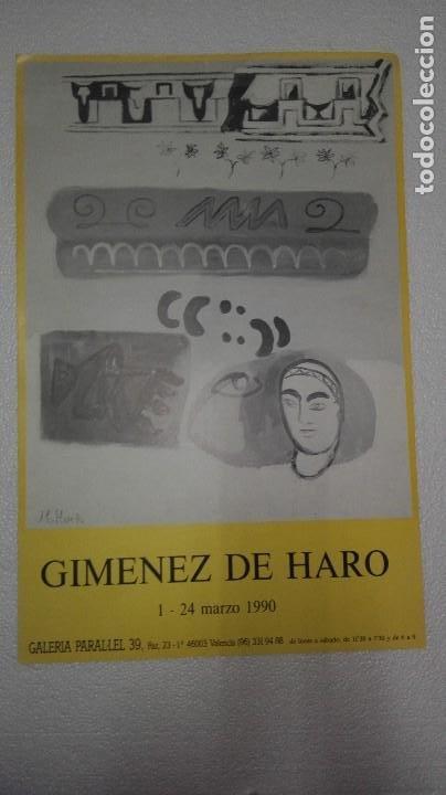 CARTEL DE EXPOSICIÓN DE JAIME GIMÉNEZ DE HARO (Arte - Varios Objetos de Arte)