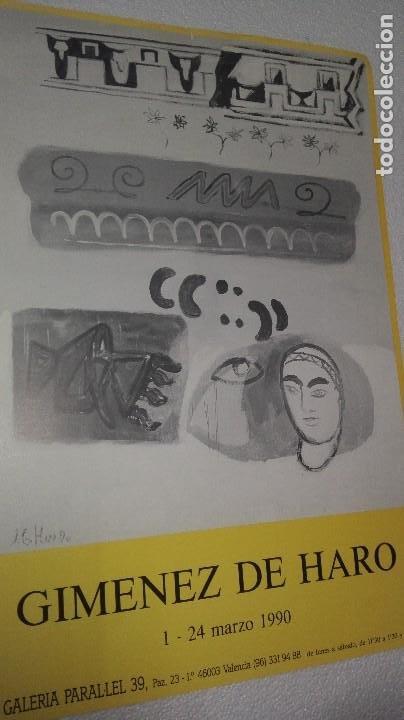 Varios objetos de Arte: CARTEL DE EXPOSICIÓN DE JAIME GIMÉNEZ DE HARO - Foto 3 - 253576805