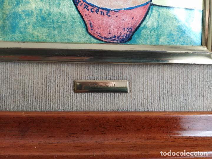 Varios objetos de Arte: CUADRO ESMALTADO VAN GOGH / LOS GIRASOLES. MARCO DE MADERA MIDE 39 CM x 44,5 CM - Foto 5 - 254003055