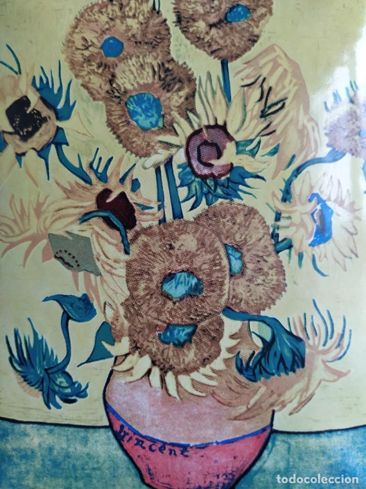 Varios objetos de Arte: CUADRO ESMALTADO VAN GOGH / LOS GIRASOLES. MARCO DE MADERA MIDE 39 CM x 44,5 CM - Foto 12 - 254003055