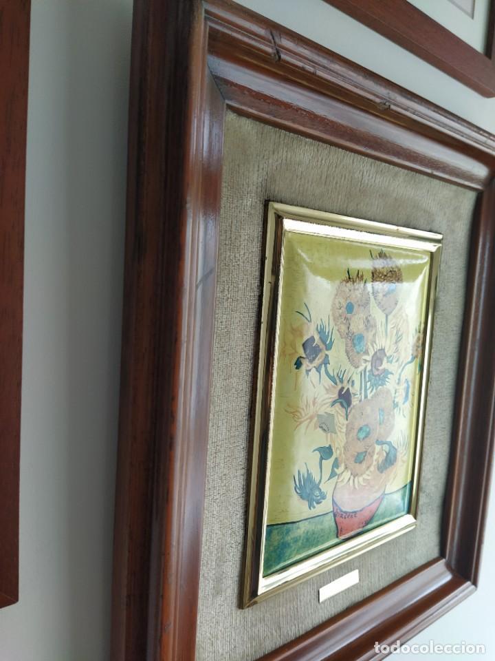 Varios objetos de Arte: CUADRO ESMALTADO VAN GOGH / LOS GIRASOLES. MARCO DE MADERA MIDE 39 CM x 44,5 CM - Foto 14 - 254003055