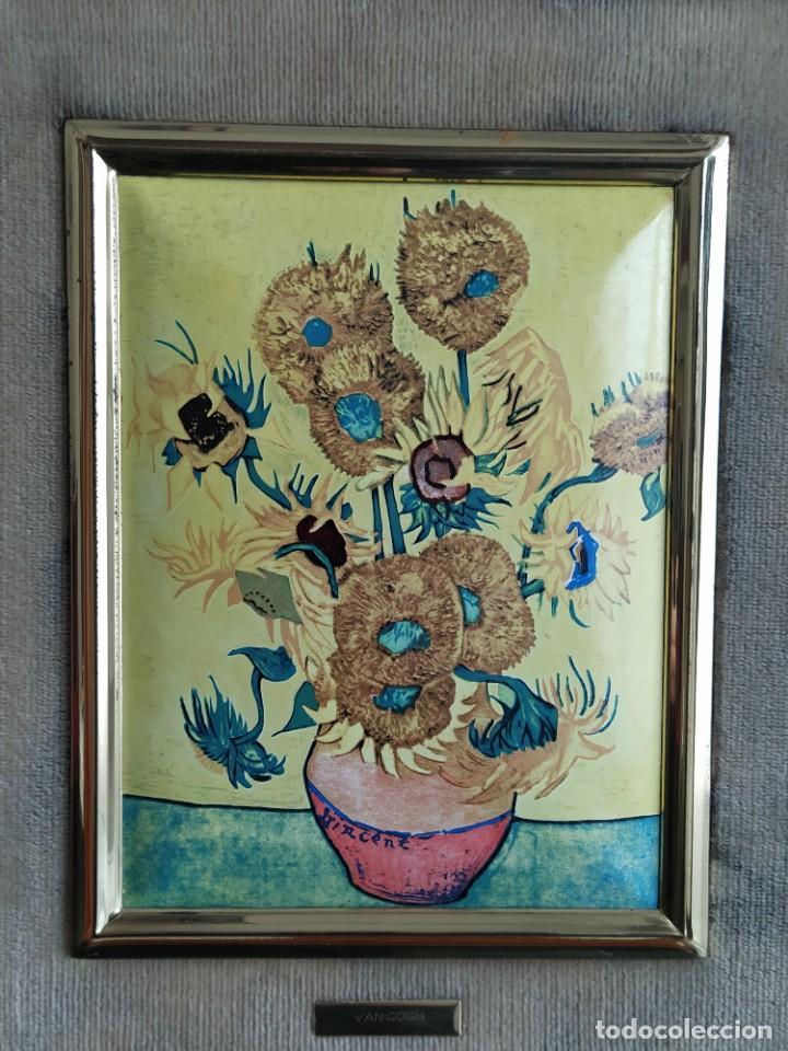 Varios objetos de Arte: CUADRO ESMALTADO VAN GOGH / LOS GIRASOLES. MARCO DE MADERA MIDE 39 CM x 44,5 CM - Foto 20 - 254003055