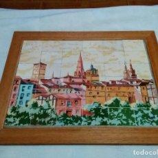 Varios objetos de Arte: CUADRO MOSAICOS / LOSETAS CON IMAGEN DE LOGROÑO (FIRMADO UZQUEDA) EUSTAQUIO / TAQUIO UZQUEDA. Lote 254357620