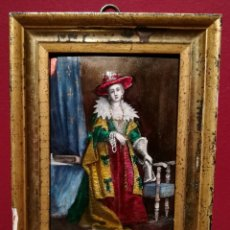 Varios objetos de Arte: DAMA DE LA CORTE. ESMALTE FRANCÉS CIRCA 1700.. Lote 254440695
