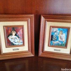 Varios objetos de Arte: CUADROS ESMALTE PICASSO LAWRENCE. Lote 255334510