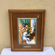 Varios objetos de Arte: CUADRO RENOIR ESMALTE AL FUEGO. Lote 255344320